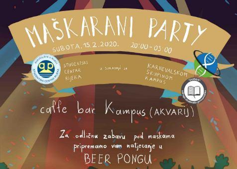 Maškarani party na Kampusu