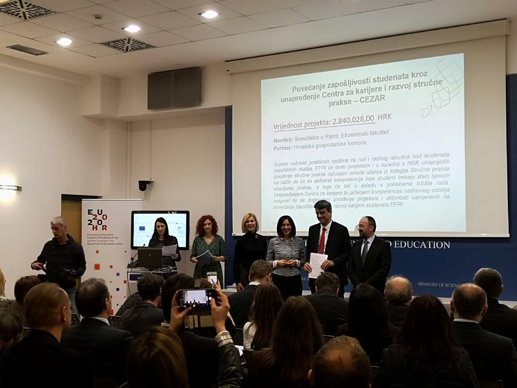 EFRI-ju odobrena bespovratna sredstva u iznosu od 2,8 milijuna kuna