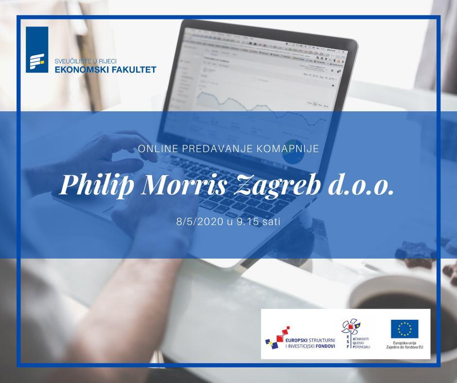 Online predavanje kompanije Philip Morris Zagreb d.o.o.