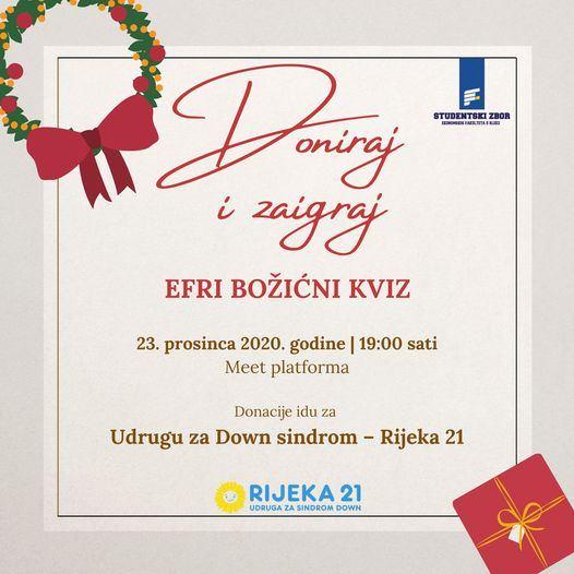 EFRI božićni kviz pod geslom: Doniraj i zaigraj!