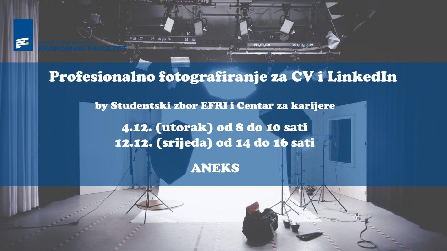 Profesionalno fotografiranje za CV i LinkedIn
