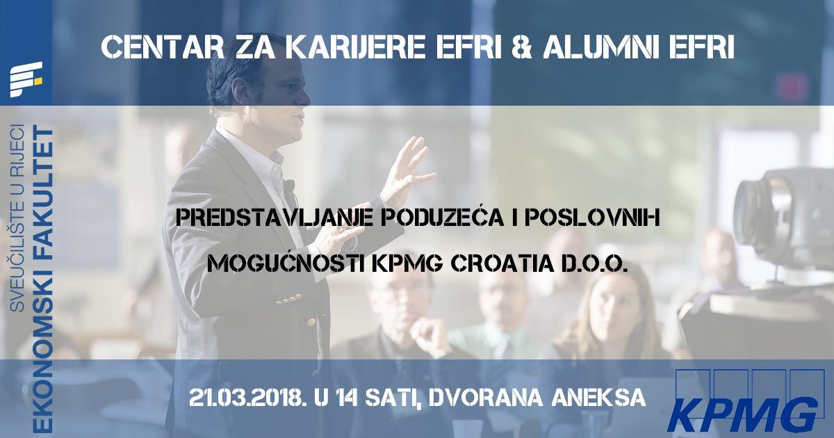 Predstavljanje poduzeća KPMG Croatia d.o.o.