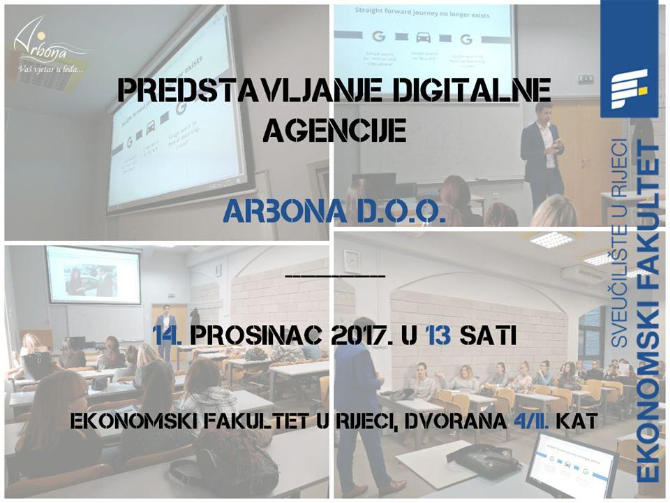 Predstavljanje poslovnih mogućnosti u agenciji ARBONA d.o.o.