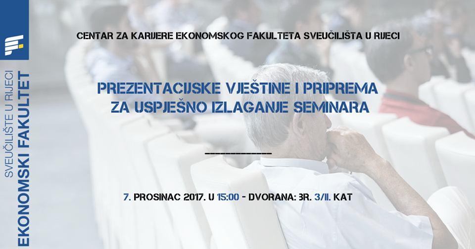 Prezentacijske vještine i priprema za uspješno izlaganje seminara