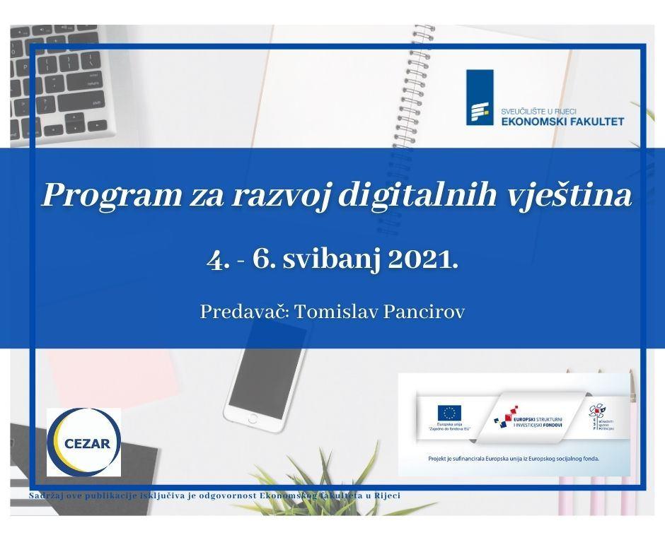 Program za razvoj digitalnih vještina - ZATVORENE PRIJAVE!