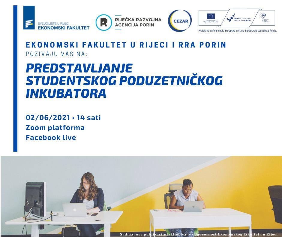Studentski poduzetnički inkubator - predstavljanje programa i mogućnosti